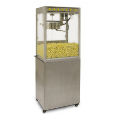 14 oz Silver Screen Professional Popcorn Machine With Base