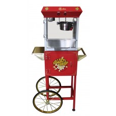 4 oz Deluxe Home Theater Popcorn Machine with Cart - Red