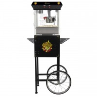 4 oz Deluxe Home Theater Popcorn Machine with Cart - Black