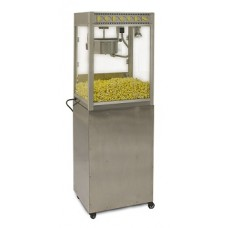8 oz Silver Screen Professional Popcorn Machine With Base