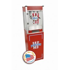 4 oz Cineplex Theater Popcorn Machine with Pedestal - Red