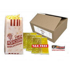 8 oz HTD Authentic Theater Popcorn Portion Packs - 48 pack