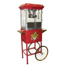 8 oz Deluxe Home Theater Popcorn Machine with Cart - Red