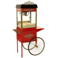 4 oz Street Vendor Commercial Popcorn Machine With Cart